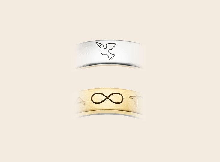 DeBruyloft Symbolen Gravure