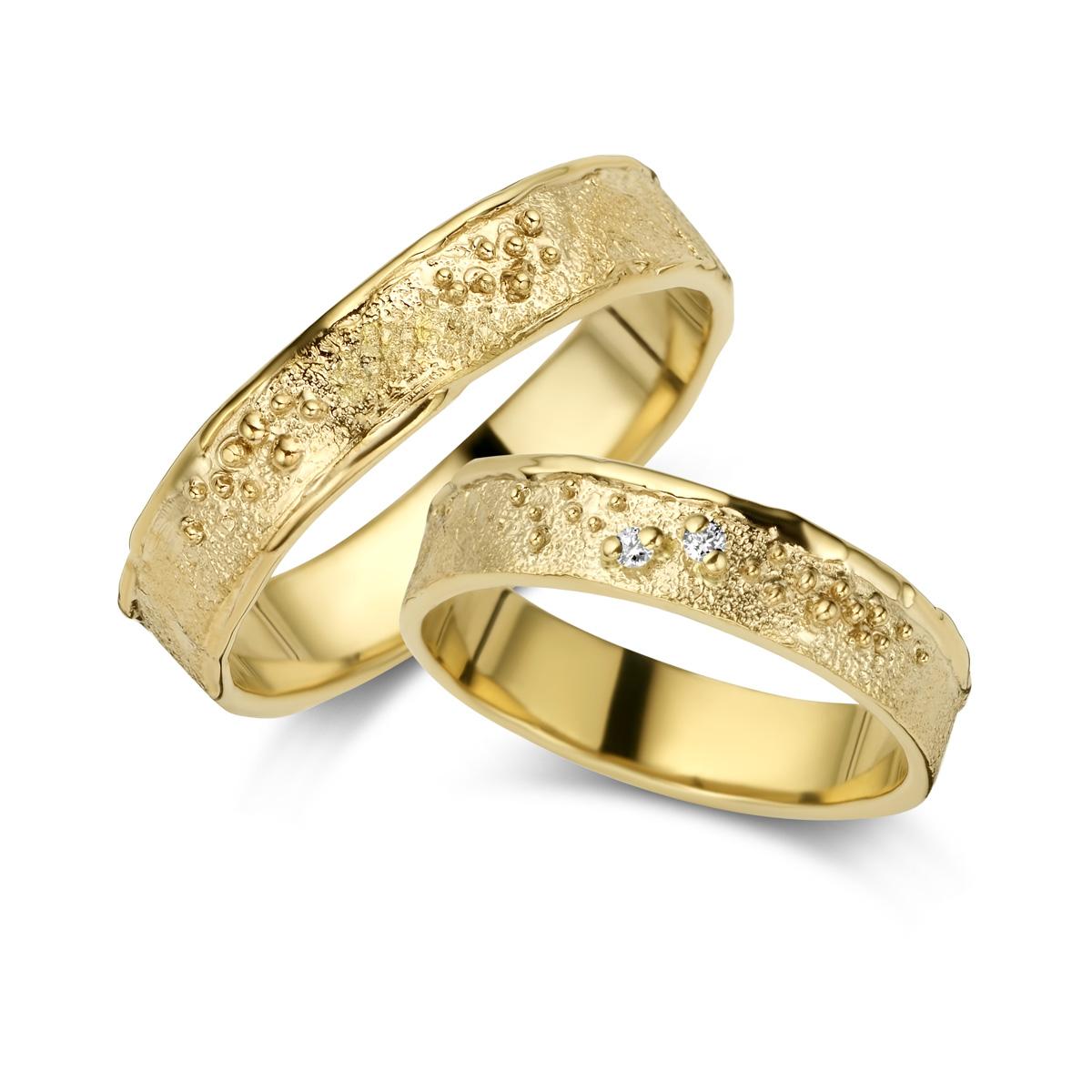 De Bruyloft trouwringen: B-DA009-DA010_G7