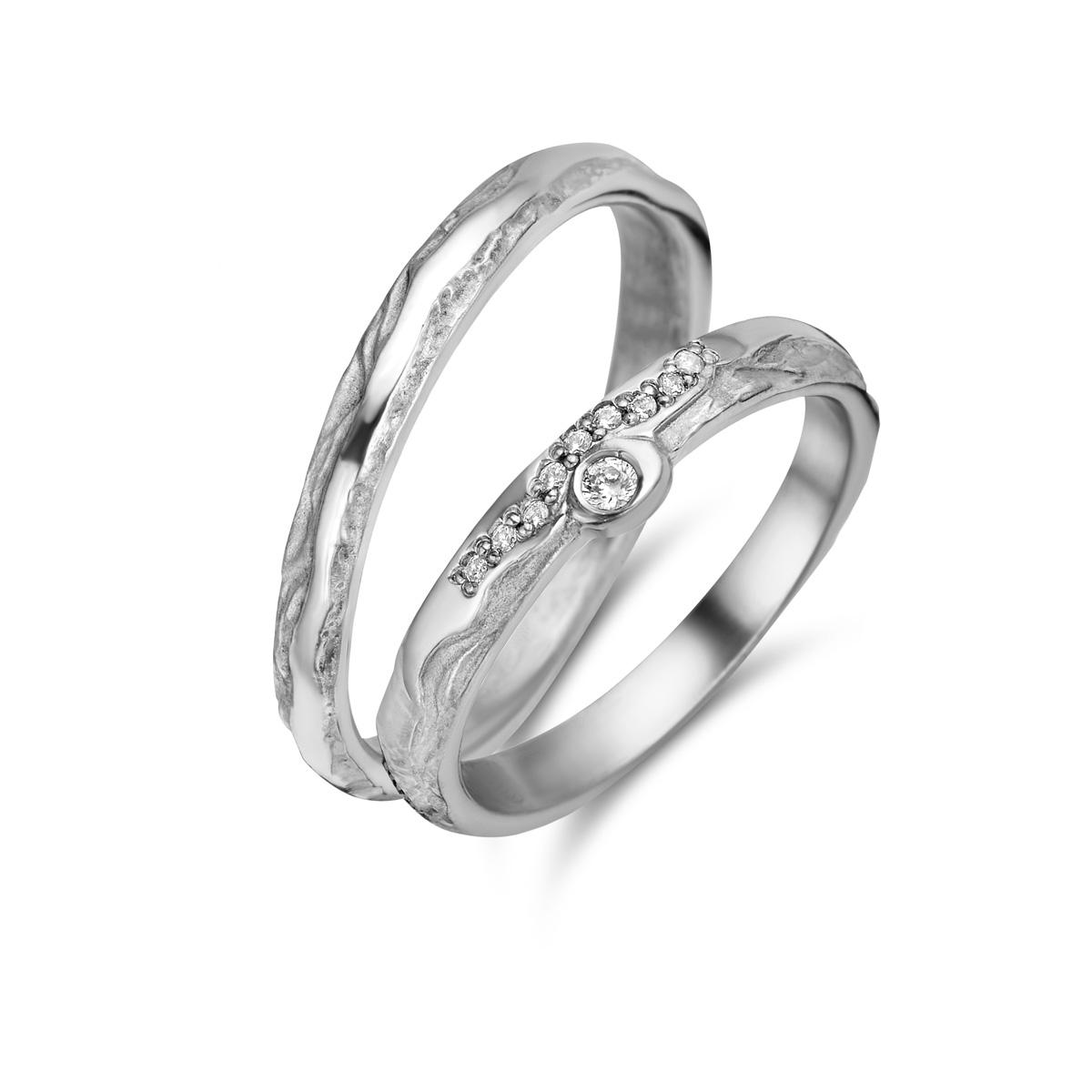 De Bruyloft trouwringen: B-FU3601-FU3600_W7