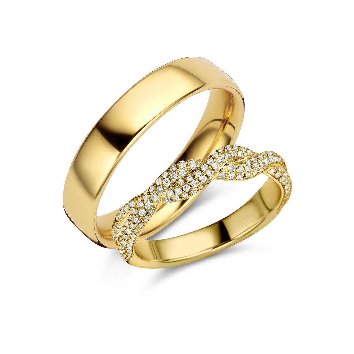 De Bruyloft trouwringen: B-RM182171-S-1085-1_G5
