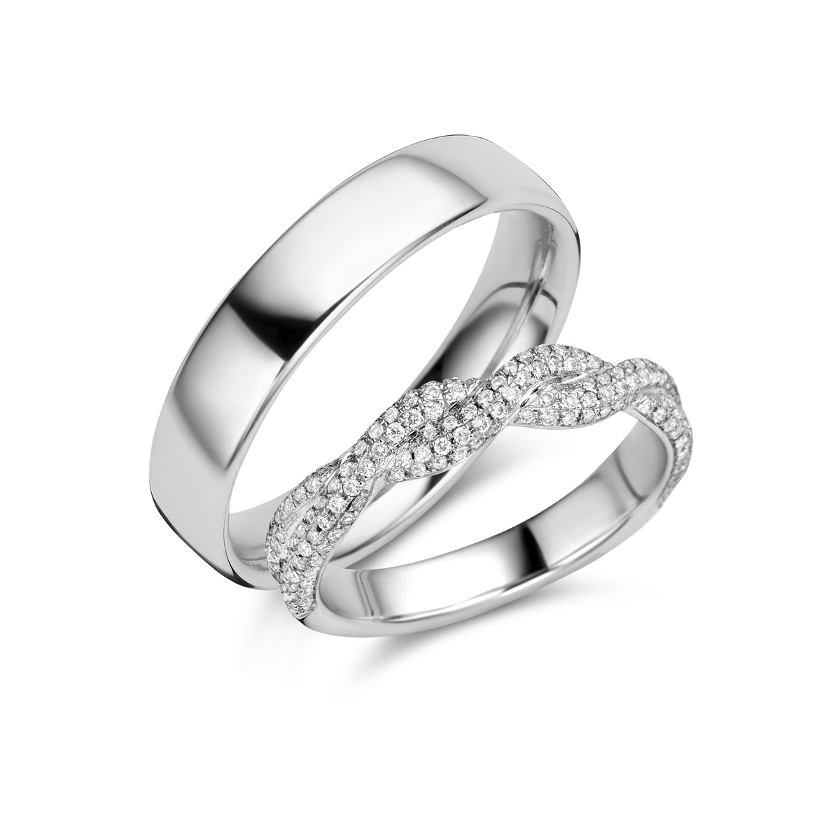De Bruyloft trouwringen: B-RM182171-S-1085-1_W7
