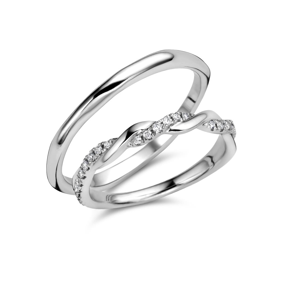 De Bruyloft trouwringen: B-RM182176-AD8825_W9