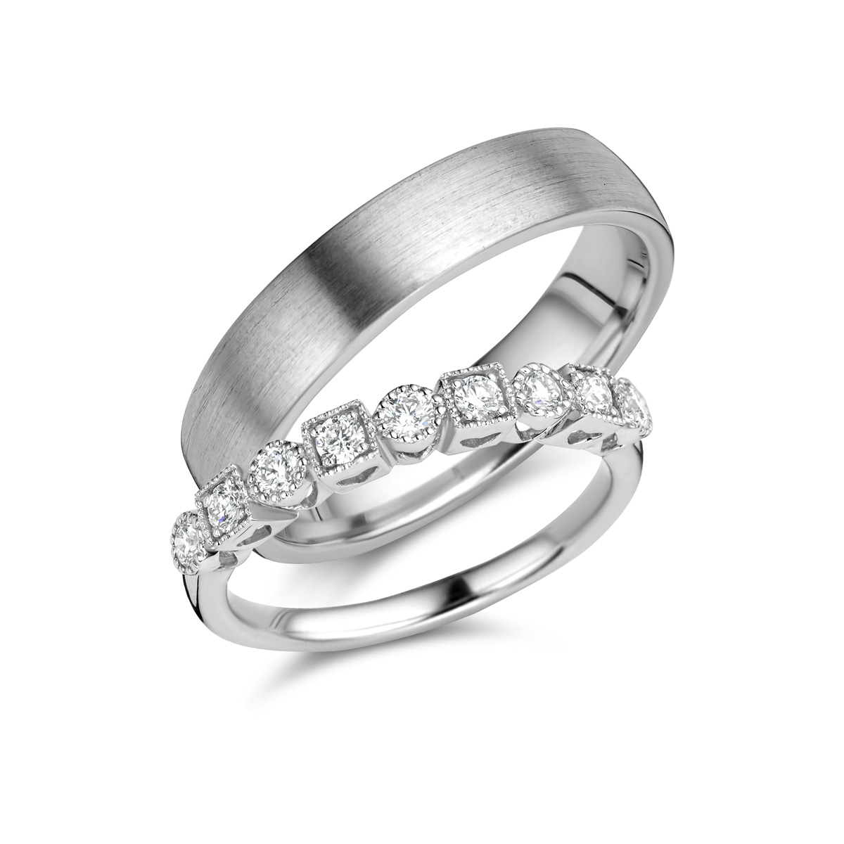 De Bruyloft trouwringen: B-RM182183-S-1084-1_W7